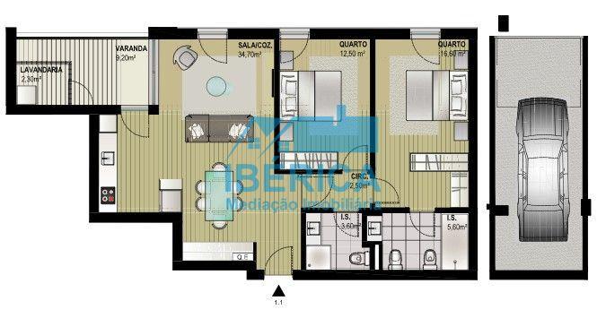 casacerta.pt - Apartamento T2 - Venda - Canidelo - Vila Nova de Gaia